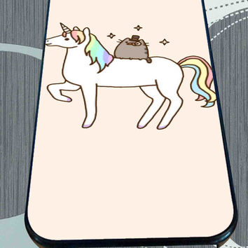 Pusheen Cat With Unicorn for iPhone 4/4s/5/5S/5C/6/6+, Samsung S3/S4/S5 Case *95*