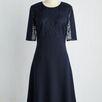 Long Short Sleeves A-line Sophisticated Circumstances Dress