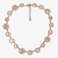 Pearlescent Flowers Necklace