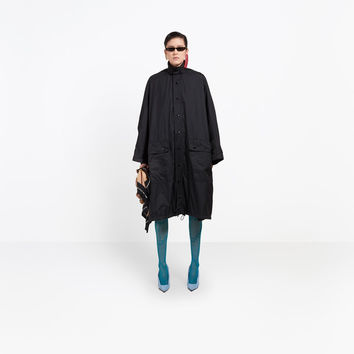 Women's Black Opera Rain Coat | Balenciaga