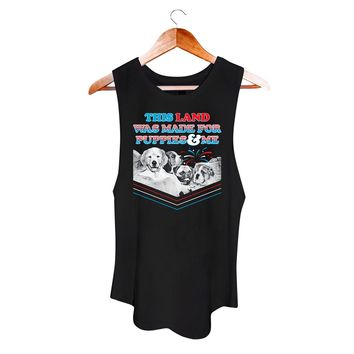 This Land is Puppies Land | Women's Sleeveless