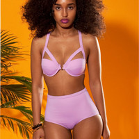 Pastel Purple Highwaist swimwear