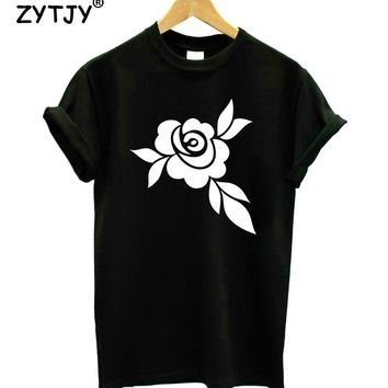 Flower Print Women tshirt Cotton Casual Funny t shirt For Lady Girl Top Tee Hipster Tumblr Drop Ship Z-1157