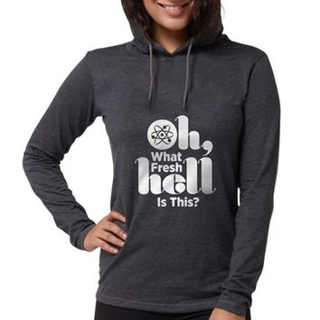 Oh what fresh hell is this? Womens Hooded Shirt