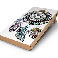 Fancy Dreamcatcher CornHole Board Skin Decal Kit
