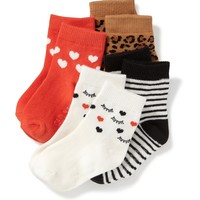 Crew-Sock 4-Pack for Toddler & Baby | Old Navy