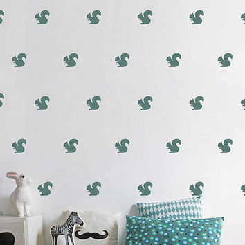 ik3014 Set of 162 2,5x2,5 squirrel Wall Decal squirrel wall art Confetti Decals Wall Decal Baby Nursery Baby Room Decor Wall Patterns decor