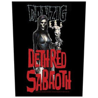 Danzig Sew On Canvas Back Patch Deth Red Sabaoth Logo