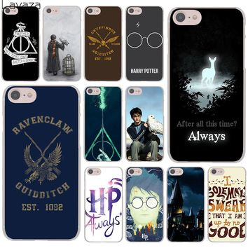 Lavaza Harry Potter always Slytherin School Hard Cover Case for Apple iPhone 8 7 6 6S Plus 5 5S SE 5C 4 4S X 10 Coque Shell