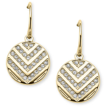 Chevron Glitz Drop Earrings