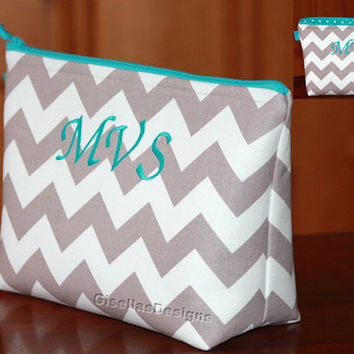 Extra Large Cosmetic Bag, travel organizer, Personalized Zipper Bag, Wedding Survival Kit