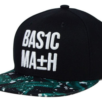Basic Math Floral Splat Snapback Hat