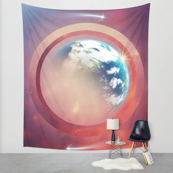 Planet Home Wall Tapestry by DuckyB (Brandi)