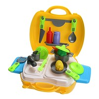 Portable Kitchen Cooking Cosplay Tool Kits Kids Child Role Play Toy Play House Kids Educational Toy
