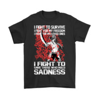 Fairy Tail - I fight to save those who hold sadness  -Men Short Sleeve T Shirt - TL01373SS - 5XL