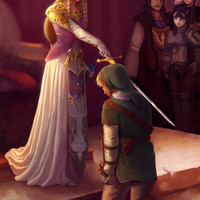 Legend of Zelda - The Knighting of Link Art Print by Rebekah Holder