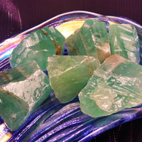 """GREEN CALCITE """"Witch's Stone"""" Transforms The Energy in Any Room for Magical Work - Great Altar Tool"""