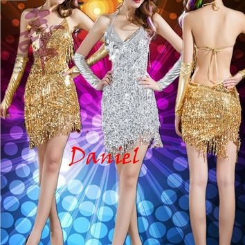 Women's One Size All Over Sequined Latin Salsa Dress