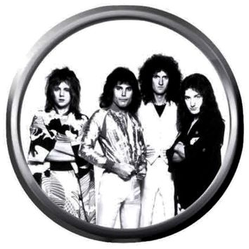 Glam Band Legend Queen Freddie Mercury And Queen Band Members Rock And Roll Hall Of Fame Musicians Legends  18MM - 20MM Fashion Snap Jewelry Snap Charm