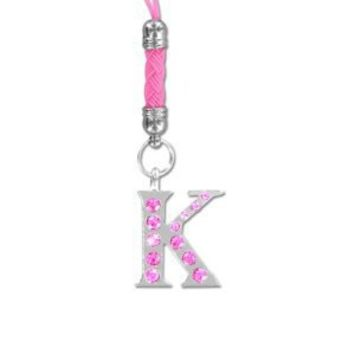 Universal Diamond Letter Electronic accessories (car) charm Strap - K PINK