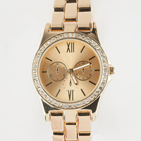 Classic Link Metallic Watch Gold One Size For Women 26557762101