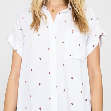 Rails Whitney Strawberry Print Blouse
