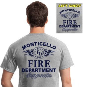 Fire Department Supporter Shirts (DD-FDS3) Gray