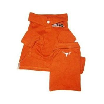 DCCKT9W Texas Longhorns Dog Polo Shirt