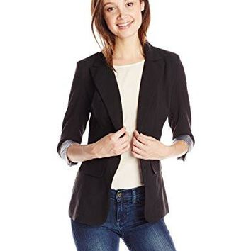 Womens One-Button Blazer