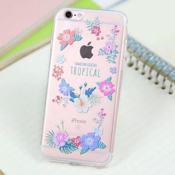 Pretty Flower Case for iPhone 5s 5se 6 6s Plus Gift 318-170928