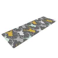 "Pellerina Design ""Scattered Deer"" Gray Yoga Mat"