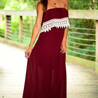 Halftime Special Maxi, Burgundy/White