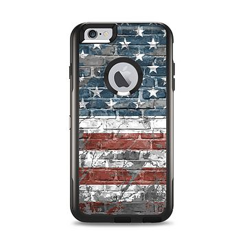 The Vintage USA Flag Apple iPhone 6 Plus Otterbox Commuter Case Skin Set
