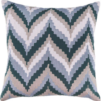 Ikat Chevron Beat Decorative Pillow - Home Decor | Surya