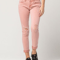 ZCO Destructed Roll Cuff Womens Jeans | Ankle