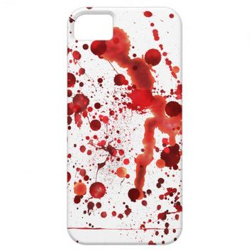 Fake Blood Splatters iPhone 5 Cases from Zazzle.com