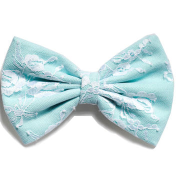 Baby Blue Lace Hair Bow