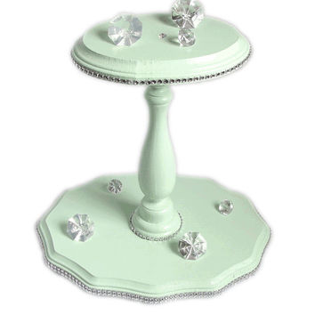 Mint green Cupcake stand, Candy stand, Mint green cupcake platter, wedding desert table, cupcake tower, Display stand, Bridal shower decor