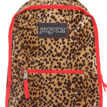 Jansport Inner Beast Reversible Backpack - Red Polka Dot/Leopard