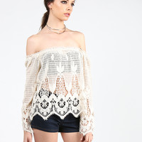 All Natural Crochet Top