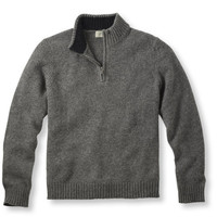 Shetland Wool Sweater, Quarter-Zip: Henleys and Zip-Necks | Free Shipping at L.L.Bean