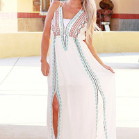 FIJI DAZE MAXI DRESS IN WHITE