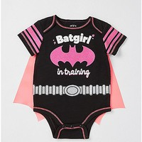 Caped Batgirl In Training Baby Bodysuit - DC Comics - Spencer's