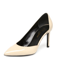 Paris Patent Half-d'Orsay Pump, Nude - Saint Laurent - Nude