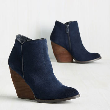Media Release Moxie Bootie in Navy | Mod Retro Vintage Boots | ModCloth.com