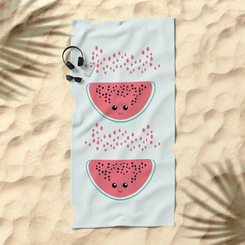 Watermelon Beach Towel by VanessaGF
