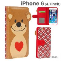 Strapya World : Suzy's Zoo Flip Type Diary Case for iPhone 6 (Heart)