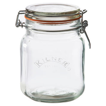 Clip-Top Jars, 34 Oz, Set of 2, Kitchen Canisters, Canning & Spice Jars