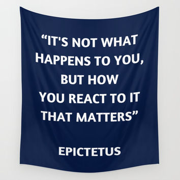 Stoic Philosophy Quote - Epictetus Wall Tapestry by Love from Sophie