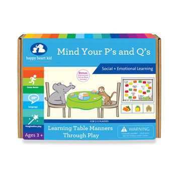 Mind Your P's and Q's - Cooperative Learning Board Game for kids of Kindergarten Ages 4-8 years - Montessori Waldorf Preschool Homeschooling Boys and Girls - Social Skills '